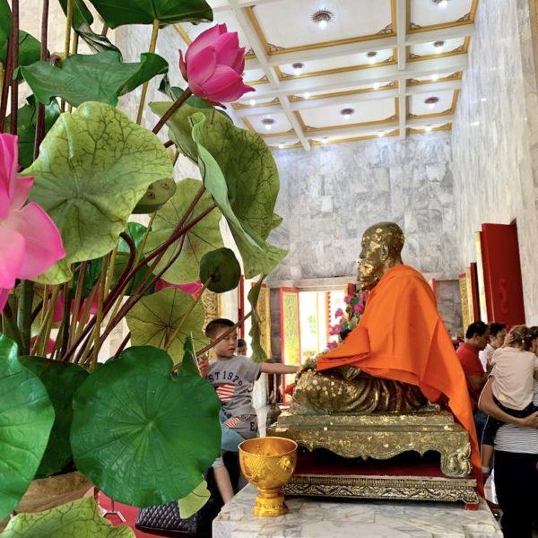 Mönch Nachbildung Wat Chalong Phuket