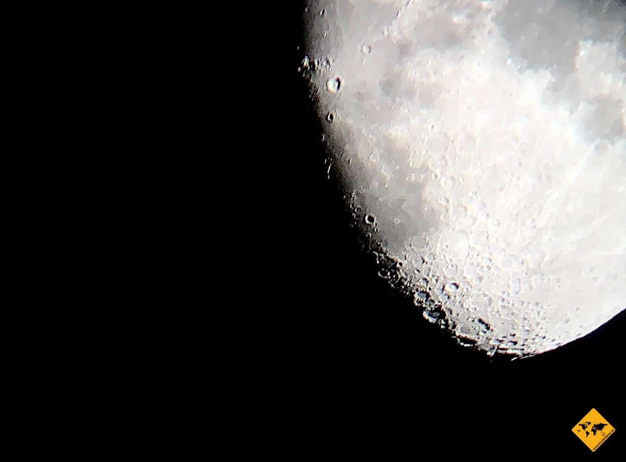 Mond iPhone Foto Teleskop