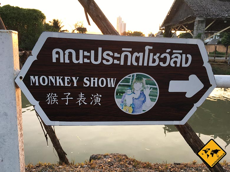 Monkey Show Floating Market Pattaya