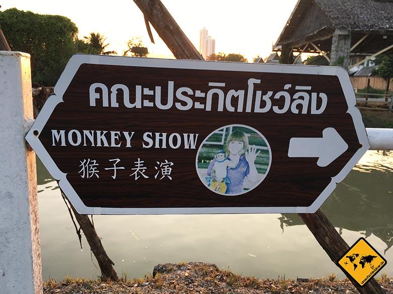 Monkey Show Floating Market Pattaya
