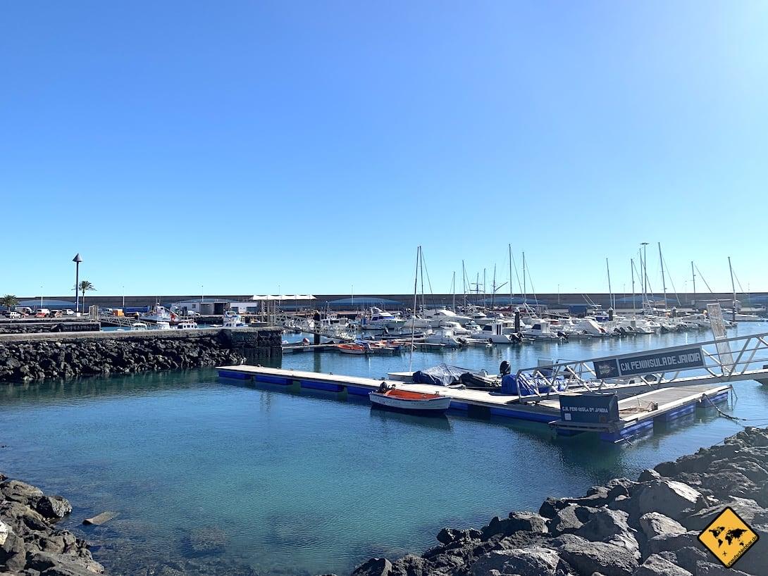 Morro Jable Hafen Halbinsel Jandía Fuerteventura