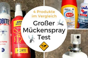 Mückenspray Test – 4 Insektenschutz Sprays im Vergleich – DEET vs. Icaridin