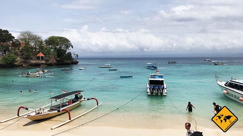 Mushroom Bay Nusa Lembongan Boote
