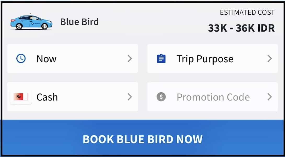 My Blue Bird App Taxi Bali