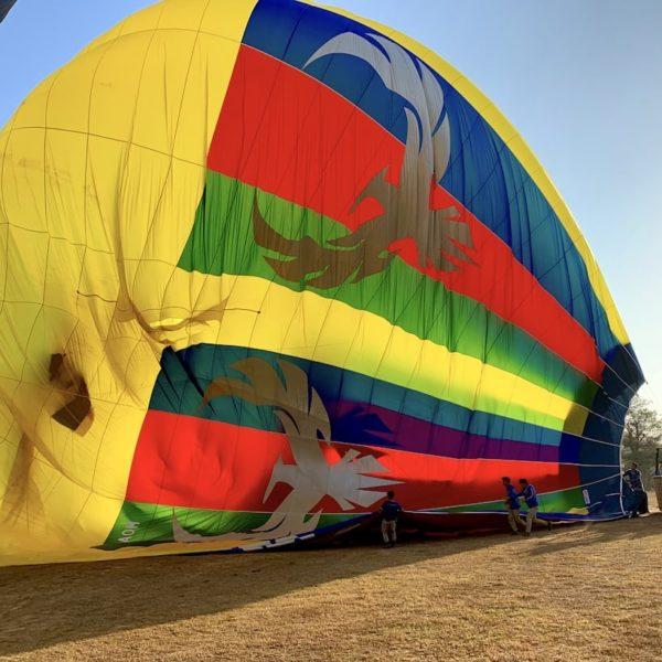 Myanmar Bagan Ballon Abbau