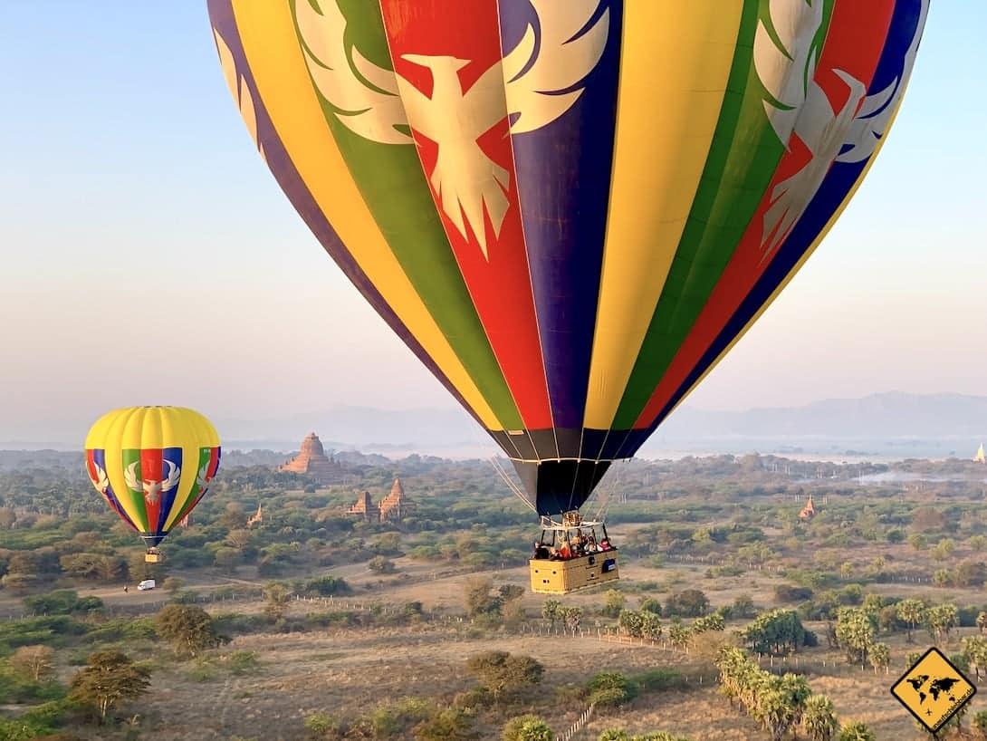 Myanmar Ballonfahrt Bagan