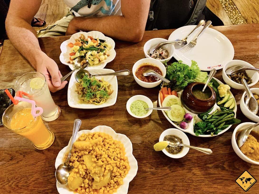 Myanmar Essen lokale Küche