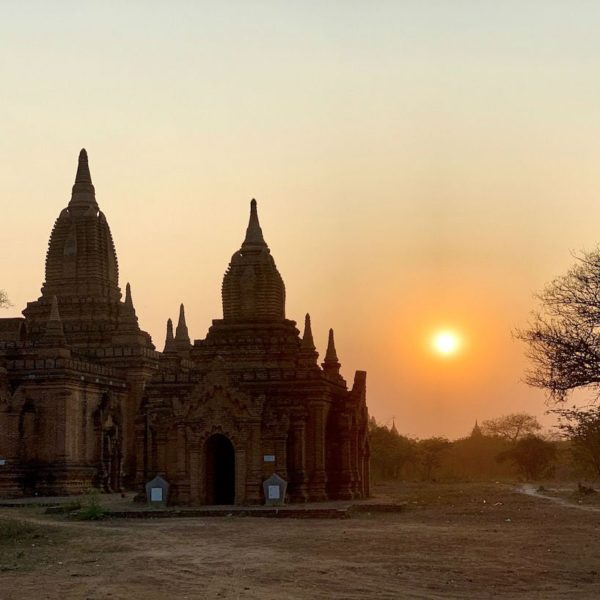 Myanmar Pagoden Sonnenuntergang Sulamuni Manmade Sunset Hill