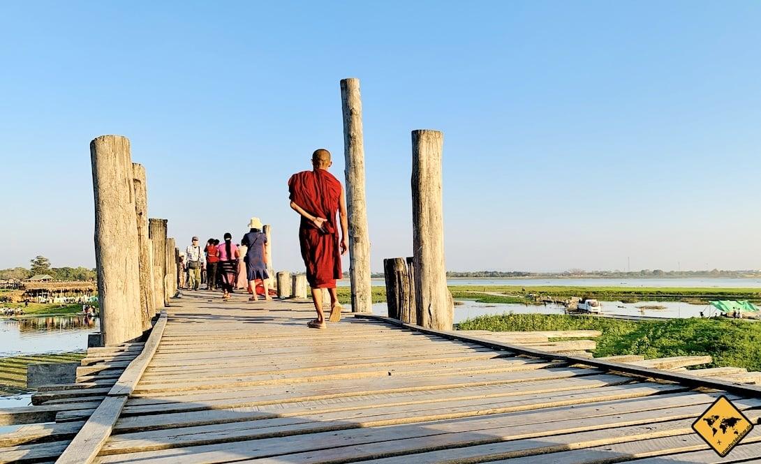 Myanmar Reiseblog Mönch