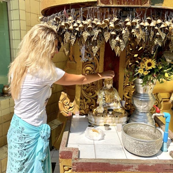 Myanmar Sule Pagode Yangon Wochentags-Buddha Dienstag
