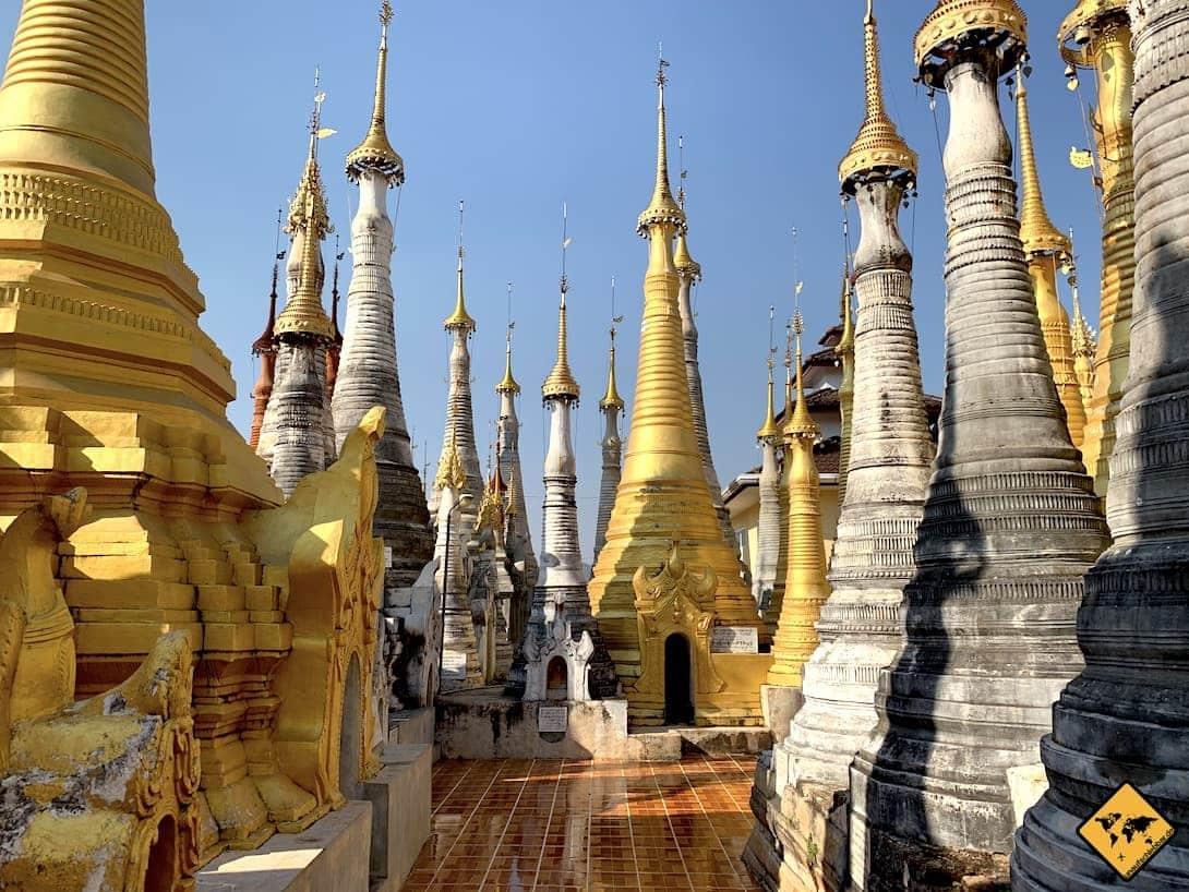 Myanmar Tempel Shwe Inn Dein Pagode Inle Lake