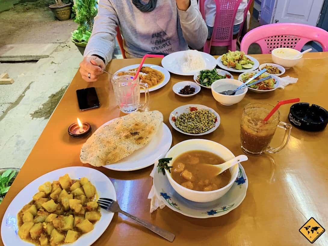 Myanmar lokale Speisen Restaurant