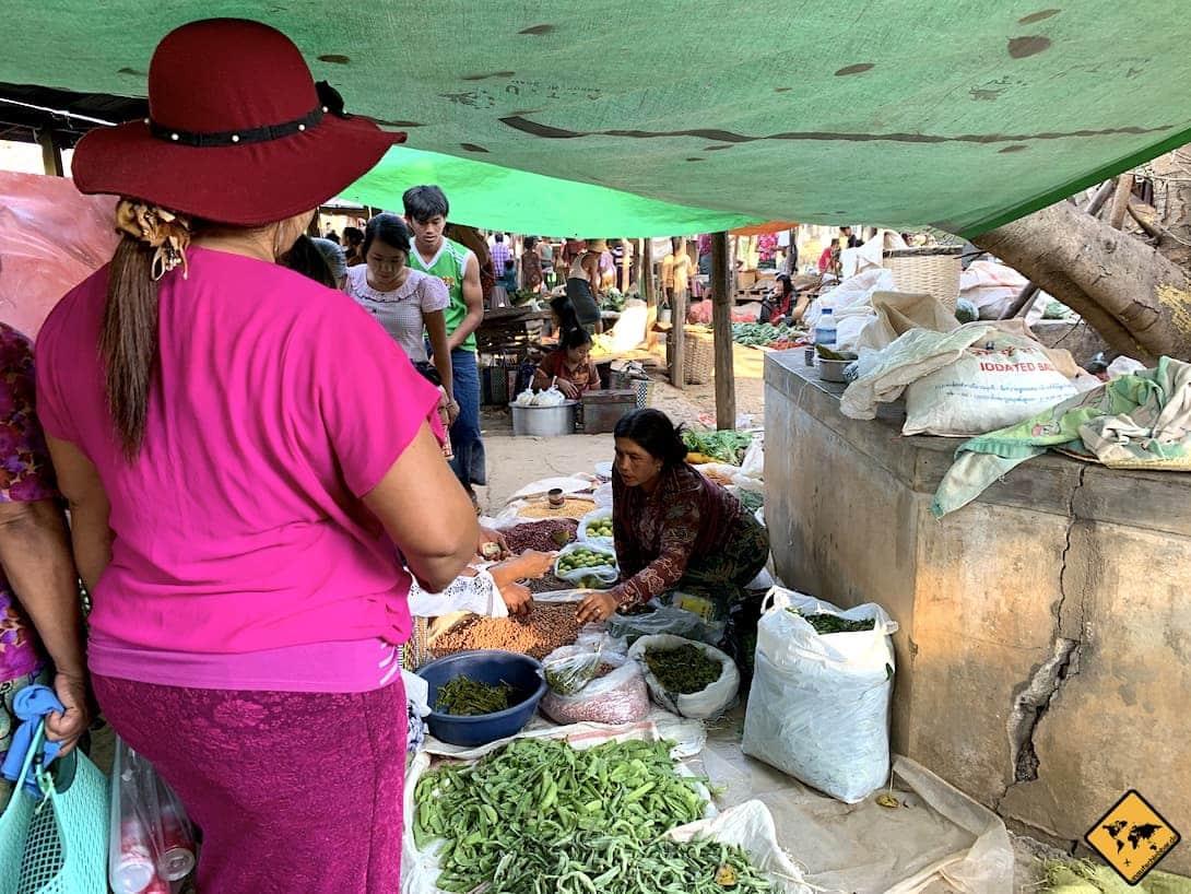 Myanmar lokaler Markt