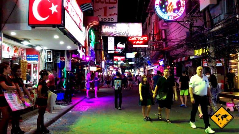 Nachtleben Pattaya Walking Street