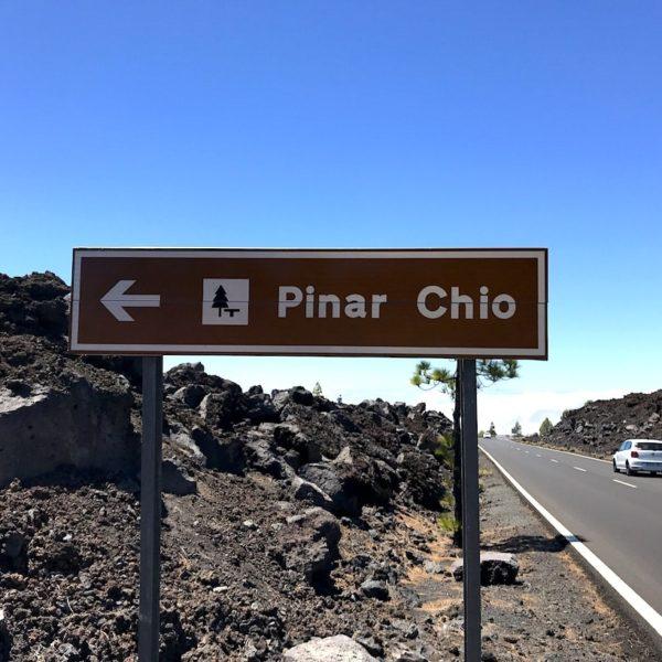 Nationalpark Teide Pinar Chio Einfahrt