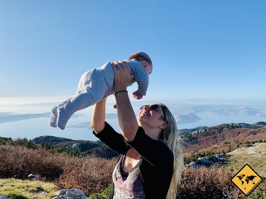 Nationalpark nördlicher Velebit mit Baby