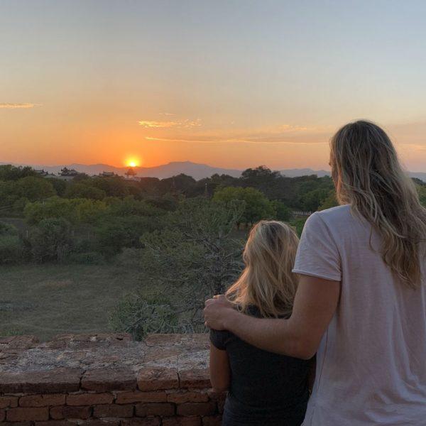 No Name Pagode Sonnenuntergang Bagan