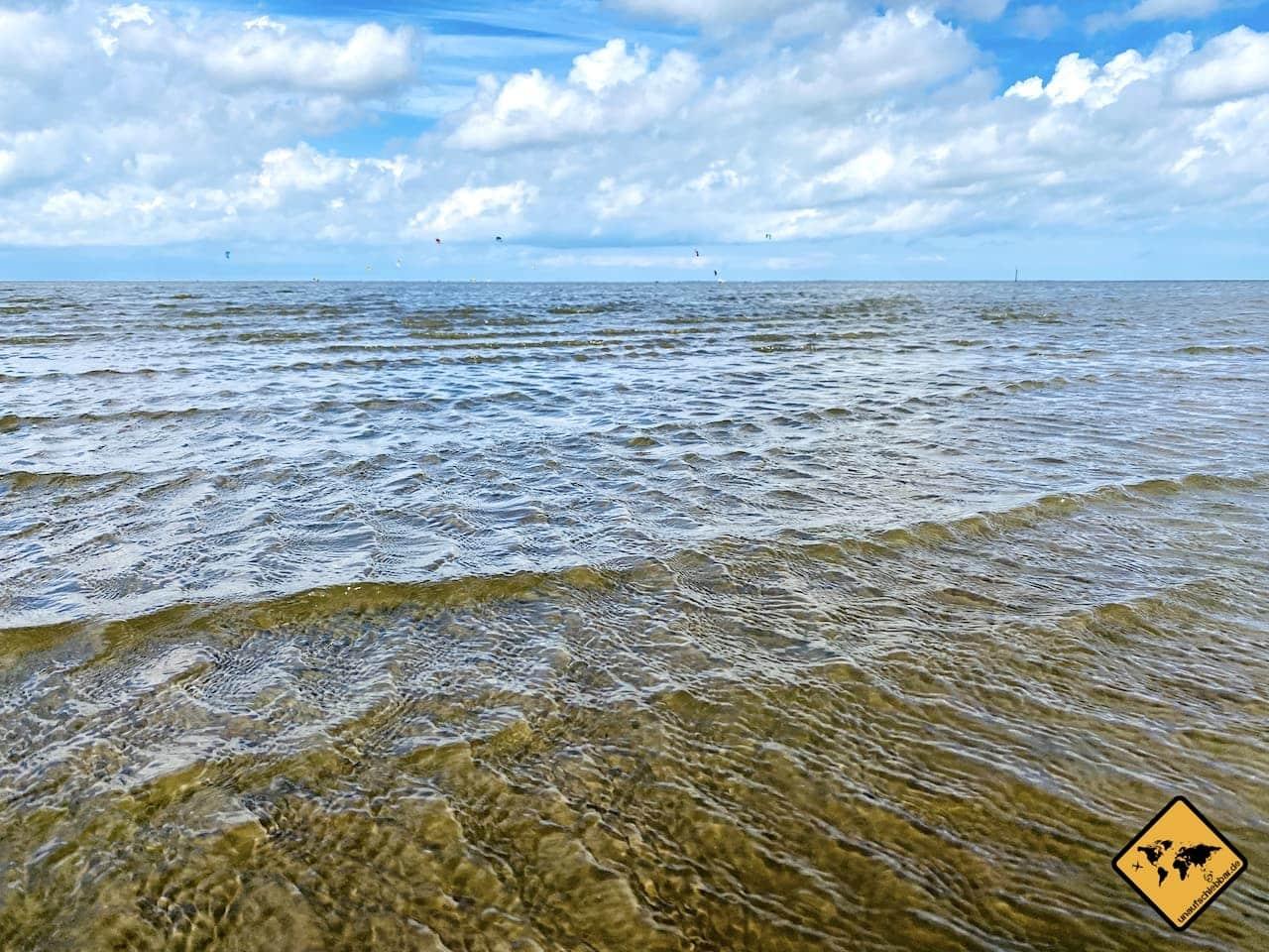 Nordsee einsetzende Ebbe Strand Norddeich