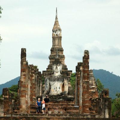 Nordthailand Rundreise Geschichtspark Sukhothai Wat Mahathat