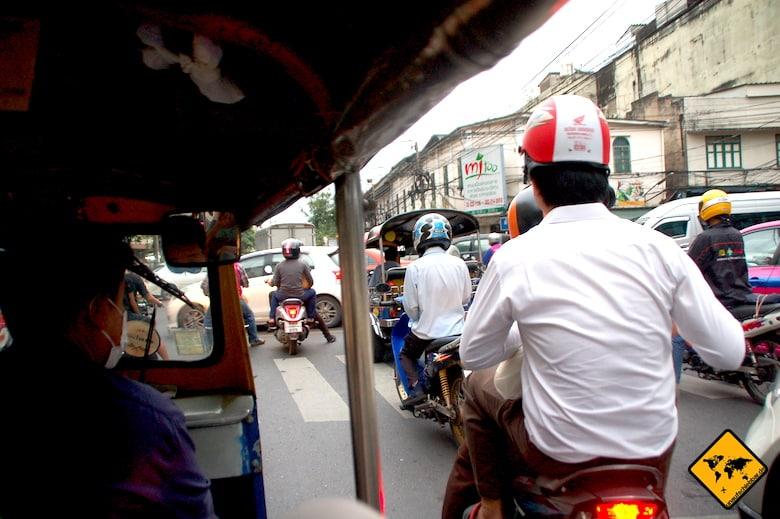 Nordthailand Rundreise Straßenverkehr