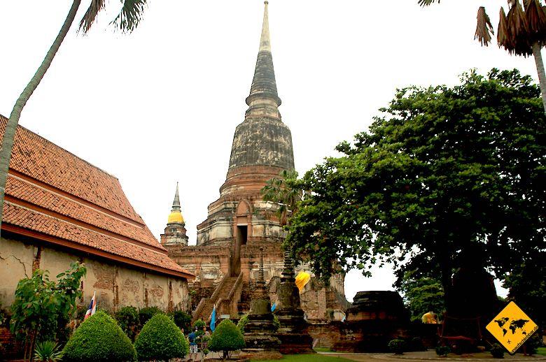 Nordthailand Rundreise Wat Yai Chai Mongkol Ayutthaya