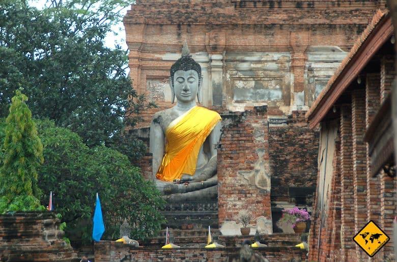 Nordthailand Rundreise Wat Yai Chai Mongkon Ayutthaya