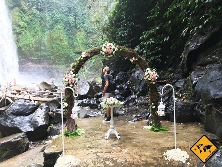 Nungnung Waterfall Hochzeit
