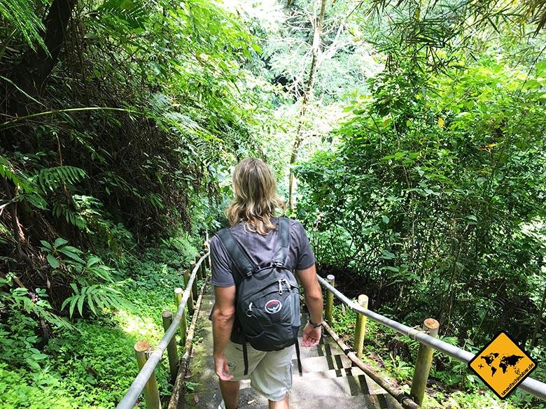 Nungnung Waterfall grüner Weg