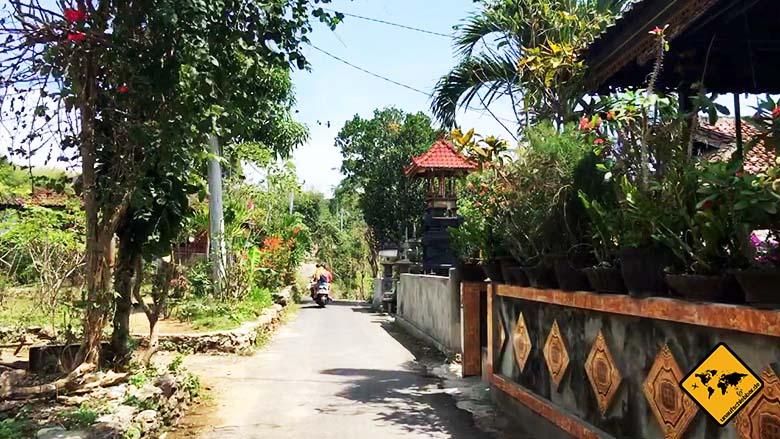 Nusa Ceningan Straßen