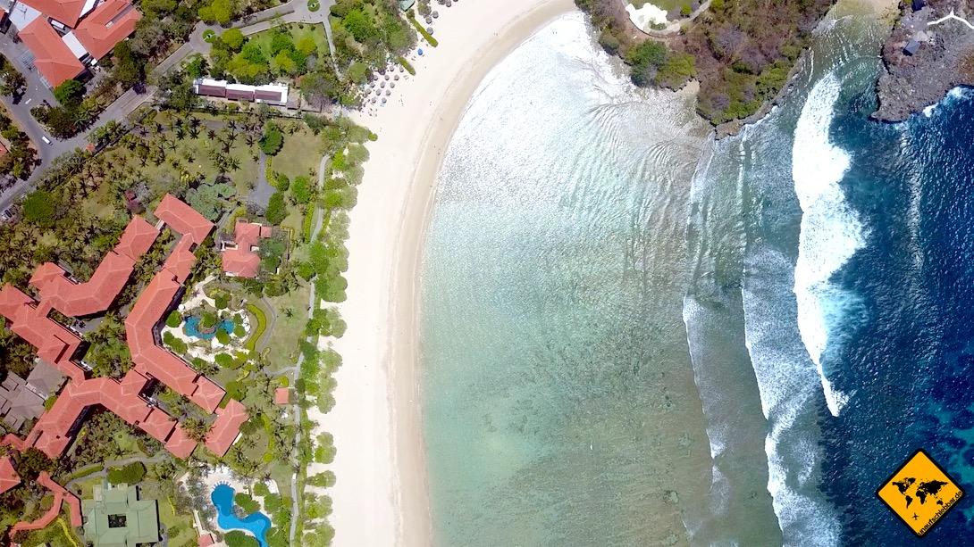 Nusa Dua Bali Strand Wellengang Ebbe