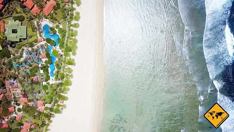 Nusa Dua Beach Bali Breite