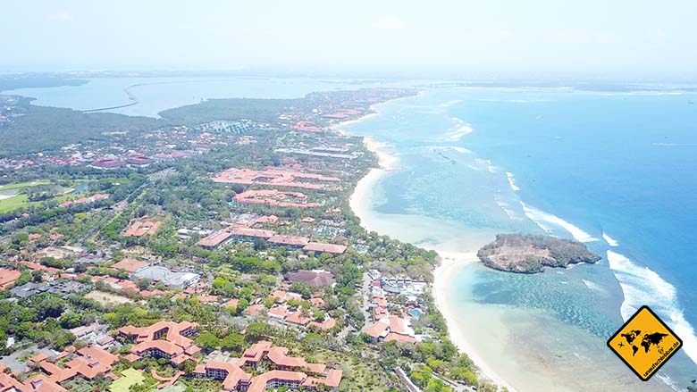 Nusa Dua Beach Bali nördlicher Teil