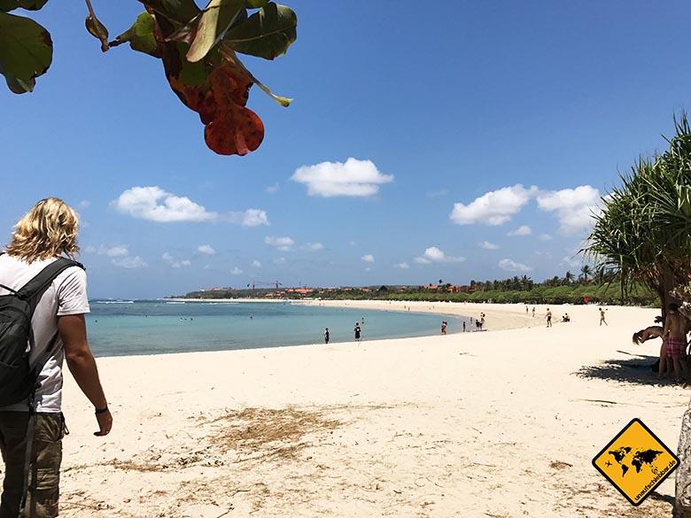 Nusa Dua Beach Bali unterhalb Waterblow
