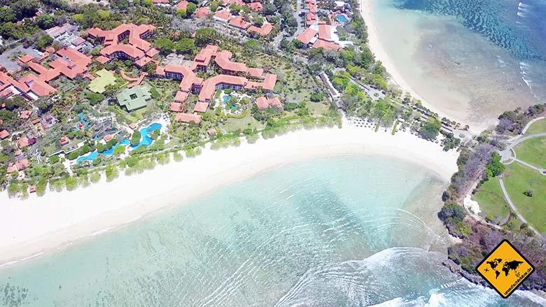 Nusa Dua Strand Hotels rückversetzt