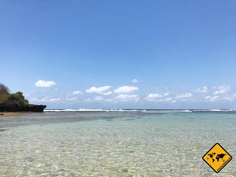Nusa Dua Strand Wellen Ebbe