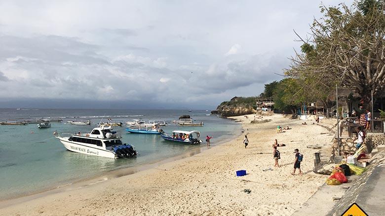 Nusa Lembongan Anreise Mushroom Beach