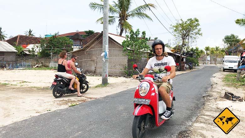Nusa Lembongan Anreise Roller mieten