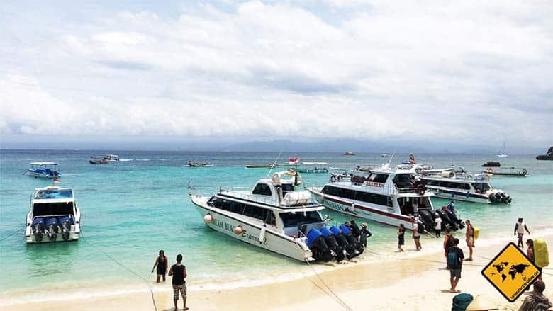 Nusa Lembongan Anreise Schnellboot