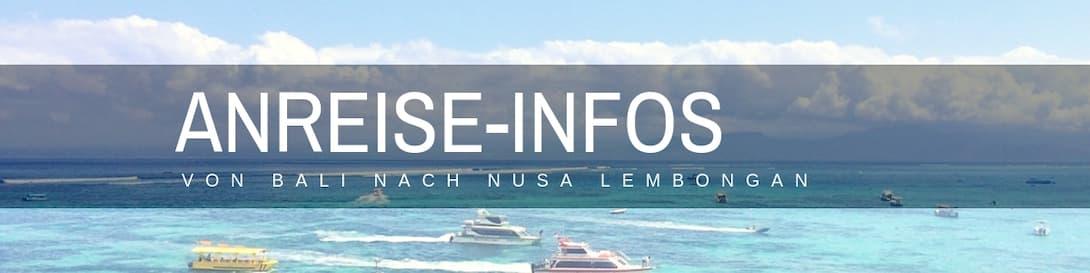 Nusa Lembongan Bali Anreise