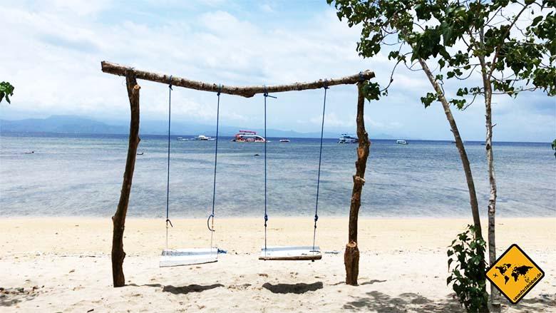 Nusa Lembongan Bali Strand Schaukeln