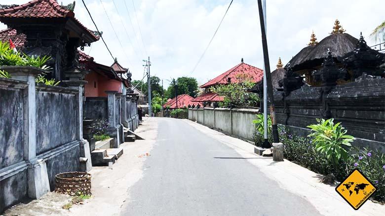 Nusa Lembongan Bali Straßen