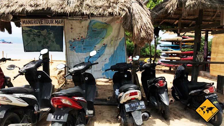 Nusa Lembongan Nusa Ceningan Ausschilderung