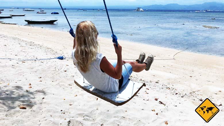 Nusa Lembongan Schaukeln Meerblick
