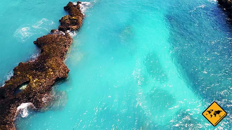 Nusa Lembongan Strände türkis-blaues Wasser