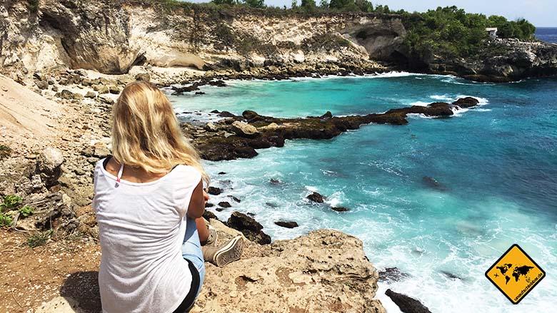 Nusa Lembongan Strand Blue Lagoon Ceningan Ausblick