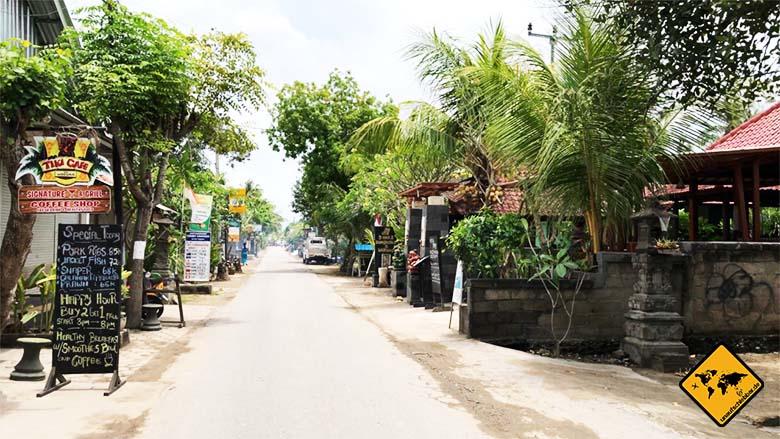 Nusa Lembongan Straßen Breite