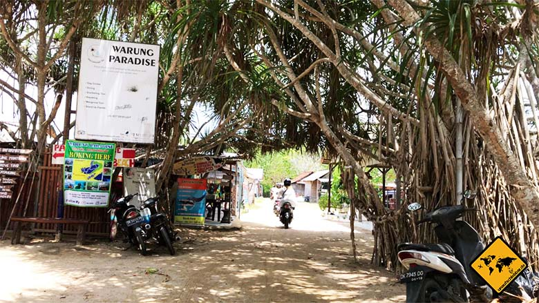 Nusa Lembongan Weg Mangroven Wald