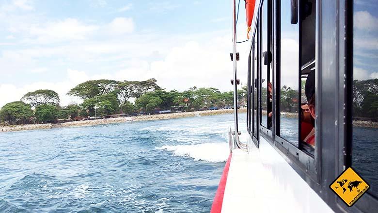 Nusa Penida Anreise Schnellboot