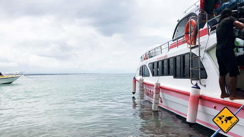 Nusa Penida Boot Anreise Sanur