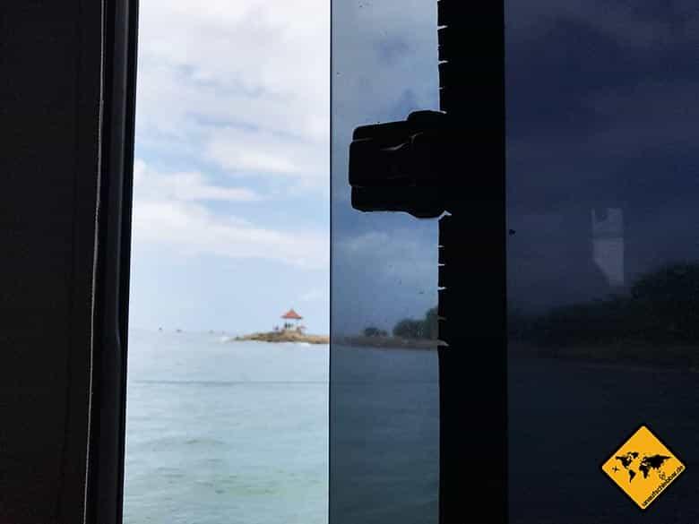 Nusa Penida Boot Fenster